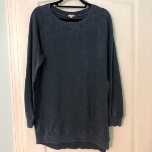 Terry knit pullover (navy)
